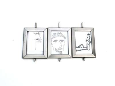 Three Drawings in Frames